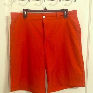 Men's Orange Golf Shorts